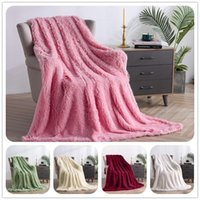 Blankets Decorative Extra Soft Faux Fur Blanket,Reversible Fuzzy Lightweight Long Hair Shaggy Blanket For Couch Sofa Bed