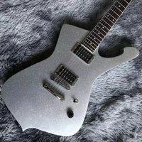 2021 Yeni Grand Iban Stil Özel Elektro Gitar Gümüş Köpüklü Bitirmek Nokta Kakma Boyun Krom Donanım Özelleştirilmiş Kabul Et