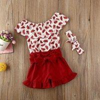 Clothing Sets Floral Born Baby Girl 2pcs Summer Clothes Tops Dress Shorts Pants Outfits Set