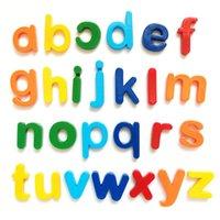 DHL教育玩具磁気学習アルファベット文字プラスチック冷蔵庫ステッカー幼児子供子供たちの綴りを学ぶ26pcs