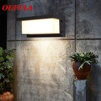 OUFULA Lámparas de pared al aire libre accesorio impermeable contemporáneo creativo decorativo para el patio del porche