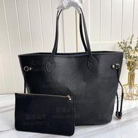 Bolsa de compras de mulher bolsa bolsa bolsa de alta qualidade bolsa de couro bolsa moda ombro azul forro número de série código 32cm / mm