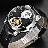 Pagani Design New Fashion Hombres Mecánicos Reloj de Cuero Tourbillon Reloj de Reloj Hombres Reloj de pulsera de Cuarzo Reloj de Cuarzo Hombre