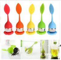 Silicon Tea Infuser Leaf Silicone Infuser with Food Grade Make Tea Bag Filter Creative Stainless Steel Tea Herbal Spice Strainers FWF8793