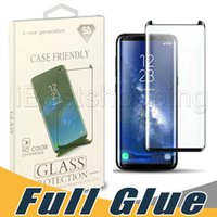 Full Glue Tempered Glass Screen Protector Adhesive AB Glue Case Friendly 3D Curved For Samsung S10 Plus S8 S9 Plus Note 9 8 with retail box
