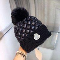 Winter Ball Strickmütze für Männer Frauen Mode Hip Hop Brief Schädel Beanie Caps Casual Warme Dicke Wolle Lederkappe