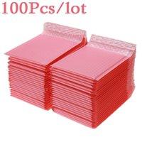 100 pcs bolha mailers acolchoado envelopes pérola filme presente de correio saco de envelope para livro revista alinhado mailer auto selo rosa