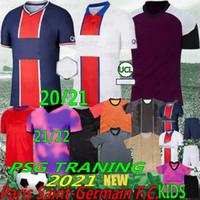Thai 20/21 Ligue 1 Mbappe di Maria Cavani Novo futebol Jereys Goleiro Neymar Jr Icardi Camisa de futebol Men + Kits Kits Silva Icardi Home