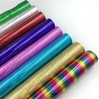 25 * 30 cm Glitter Wärmeübertragung Vinylblatt Glitter HTV Bügeleisen auf Vinyl für DIY Cricut T-shirt 8 Vibrierende Farben Wärmepresse HTV Vinyl 263 S2