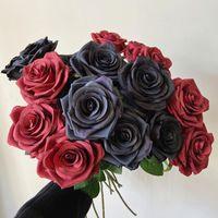 Dekoratif Çiçekler Çelenkler 10 adet Tek başlı Gül Çiçek Fransız Retro İpek Ev Dekor Düğün Güzellik Chen Ayar Sahte Buket