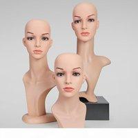 Nouvelle simulation en plastique PVC Femelle Mannequin Têtes pour chapeau de vêtements Bijoux Perruques Perruques Présentarières Modèle Head Props