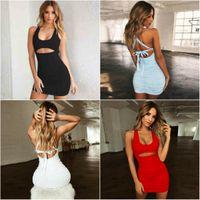 Kadın Tasarımcılar Giysileri 2021 Yaz kadın Elbise Seksi Pileli Bandaj Lulu Limon Tayt