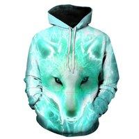 Мужские толстовки толстовки толстовки BiaoLun 2021 Wolf Hoodie осень зима хип-хоп Hoody Tops повседневный бренд 3D головка толстовка 110-6xL