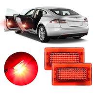 Дверь автомобиля Открытая безопасность Предупреждение огни Мигающие для Tesla Model X S Авто Антиколачный багажник Лампы Лампы Интерьер Ультра Яркий Новый