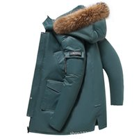 Luxury menswear Designer down jacket 2021 winter long men's detachable hat large wool collar knee thick trendyBrand cotton clothing
