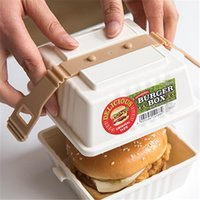 Dishes & Plates Grade Plastic Sandwich Wrapping Bento Box Burger Take-out Boxes Snack Bottle Creative Outdoor Picnic Packaging 5pcs set