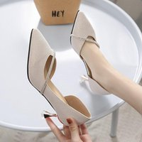 Dress Shoes Ladies Sexy Pointed High Heels Wine Glass With Rhinestone Trim Loafers Korean Prom Bridal 6cm Women