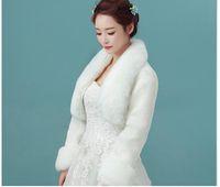 Wraps & Jackets 2021 Faux Fur Bridal Wedding White Red Winter Coats Bolero For Evening Dress Warm Shawl Cape LT036
