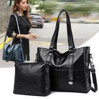 Валенькули мода женская сумка качества кожаные мешки Shoudler 2 комплекты большие кошельки и сумки большой емкости женщин повседневная сумка