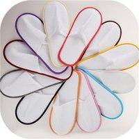 Anti-Rutsch Reise Hotel Spa Home Guest Schuhe Multi-Farben Einmaliges Sandalen Atmungsaktiv Weiche Einweg-Hausschuhe