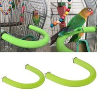 Small Animal Supplies Bird Parrot Perch Stand Rough Surfaced Wooden U Shape Nail Perches Claw Grinding Stick Cage Toys For Cockatiel Parakee