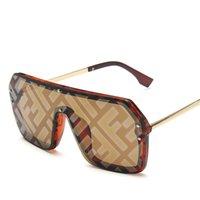 Deluxe zon, groot frame voor mannen en vrouwen, retro-stijl zon, vierkant, letter F, UV400