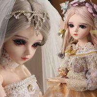UCANAN 1/3 BJD кукла 18 мяч Джорддированные куклы с обновленным макияжем полные наряды Princess платье девушки игрушки подарки для детей Q0910