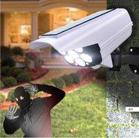 태양 광 모션 센서 보안 더미 카메라 무선 옥외 홍수 빛 IP65 방수 77 LED 램프 3 홈 정원용 모드