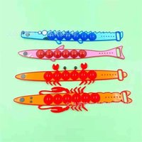Christmas Decompression Fidget Bracelet Puzzle Toys Popet Bubble Lobster Fish Crab Silicone Bangle Wristband Popping Board Game Xmas Kids Wrist Band Gift G00Q2VQ