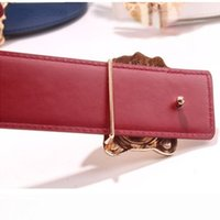 Beautiful Head Buckle Trend Casual Men's and Women's Belt 3.8 Wide Variety of Colors for You to Choose