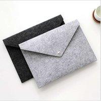 간단한 비즈니스 사무실을위한 제조 업체 File Bag A4 버튼 다운 펠트 파일 가방 서류 가방 사용자 정의
