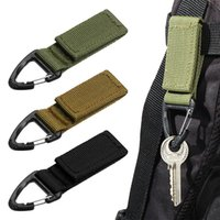 Outdoor Camping Hiking Molle Tactical Nylon Ribbon Knapsack Keychain Triangle Backpack Waist Bag Fastener Hook Buckle