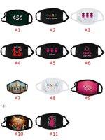 TV Kalamar Oyunu Maskeleri Yetişkin Boyutu Cadılar Bayramı Yüz Maskesi Pamuklu Bez Toz Bireysel Paketlenmiş 11 Stil BWD11059