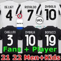Ronaldo Dybala 21 22 축구 유니폼 유벤투스 Chiesa Morata Kulusevski 축구 셔츠 드 Ligt Camiseta Fútbol 2021 2022 Maillot 발