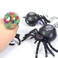 Halloween Brinquedos TPR Spider Spider Squeeze Crianças Brinquedo Descompression Cor Bead Bead Ball Big-Spider Spider Spider Presentes de Natal