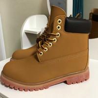2021 남자 부츠 디자이너 망 여성 설탕을 입히는 신발 상위 품질 발목 겨울 부츠 카우보이 클래식 노란색 블루 블랙 하이킹 작업 36-46