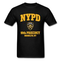 Policole de New York Nouveaux hommes T-shirts 99ème Prece Brooklyn NY Tops normaux Tees Summer Automne Vintage Tee shirt 210301