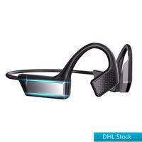 DHL 무료 배송 K08 블루투스 5.0 무선 헤드폰 뼈 전도 이어폰 야외 스포츠 헤드셋 마이크 핸즈프리 헤드셋