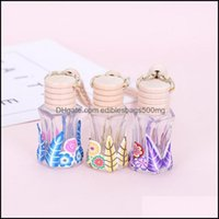Other Household Sundries & Garden1Pc Home Car Hanging Per Pendant Fragrance Air Freshener Empty Glass Bottle For Essential Oils Diffuser Mob