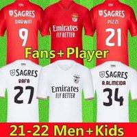 21/22 Benfica Futbol Formaları Pizzi Jonas Gabrielb Camiseta Seferovic Zivkovic Salvio Eliseu Fejsa Erkek Futbol Gömlek