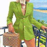 2021 Frühling Herbst Frau Solid Farben Einreiher Breasted Office Blazer Mode Pendel Business Anzug Für Frauen mit gerafftem Y2k