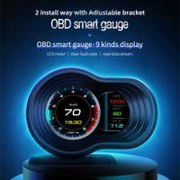 OBD2 GPS Car Smart Head Up Display Digital Display Auto Gauge Speedometer Water Oil Temp Alarm Overspeed Warning