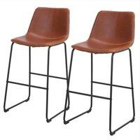 Atacado Sala de jantar móveis fch 2pcs banquinho de ferro de ferro forjado até 47 * 35 * 100cm Bronze Cor N101