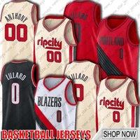 PortlandBlazers da trilha.Jersey Damian Blazer Lillard Jersey Carmelo 00 Anthony Jerseys Basketball CityEdiçãoJersey D51a.