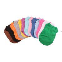 Vêtements de chien T-shirts T-shirts Summer Couleur Solid Cat Vest de mode Coton Vêtements Chippy OWB8463