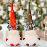 Christmas Gnome Decorations with Light Handmade Swedish Tomte Plush Scandinavian Table Ornaments Holiday Decor BWB10597