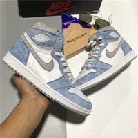 Nike Air Jordan 1 Travis Scotts X Haute Basketball Chaussures Université Bleu Chicago Obsidienne Toe Royal Toe Briser Hommes Femmes Sport Sneaker avec boîte