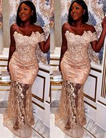 2021 Plus Size Arabic Aso Ebi Champagne Mermaid Sexy Prom Dresses Lace Beaded Sweetheart Evening Formal Party Second Reception Gowns Dress ZJ276