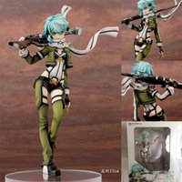 [En stock] 22cm Sword Art Online 2 Aquamarine Tres generaciones SINON Anime Figuras Garaje Kit L0226