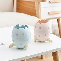 Bandeja de basura creativa linda dibujos animados dinosaurio huevo escritorio astorage limpio recoger cubo basura basura pequeña clasificación de basura